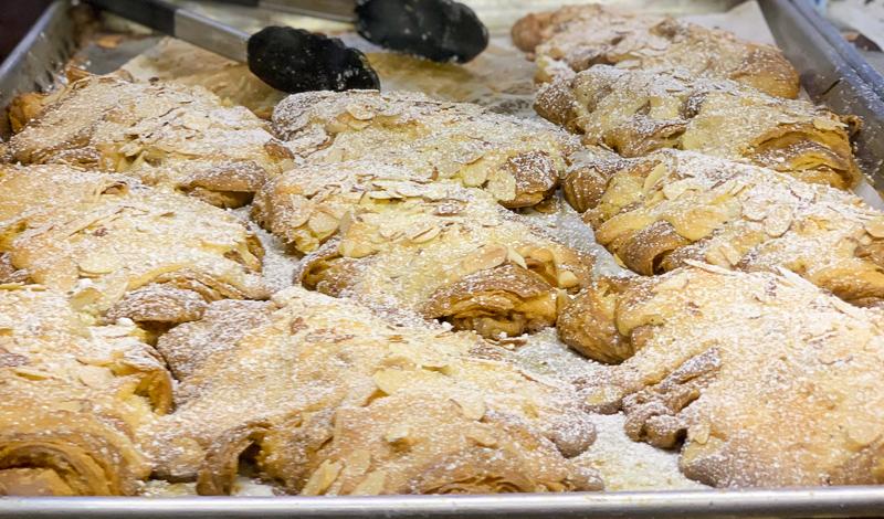 Almond Croissants at French Bakery Pandor Orange California