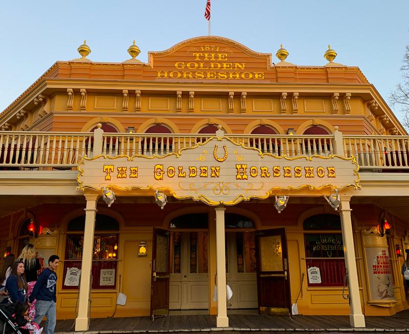 The Golden Horseshoe Restaurant at Disneyland Anaheim California