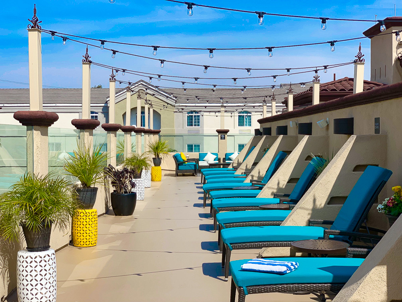 Roof Deck at the Peacock Suites Anaheim California