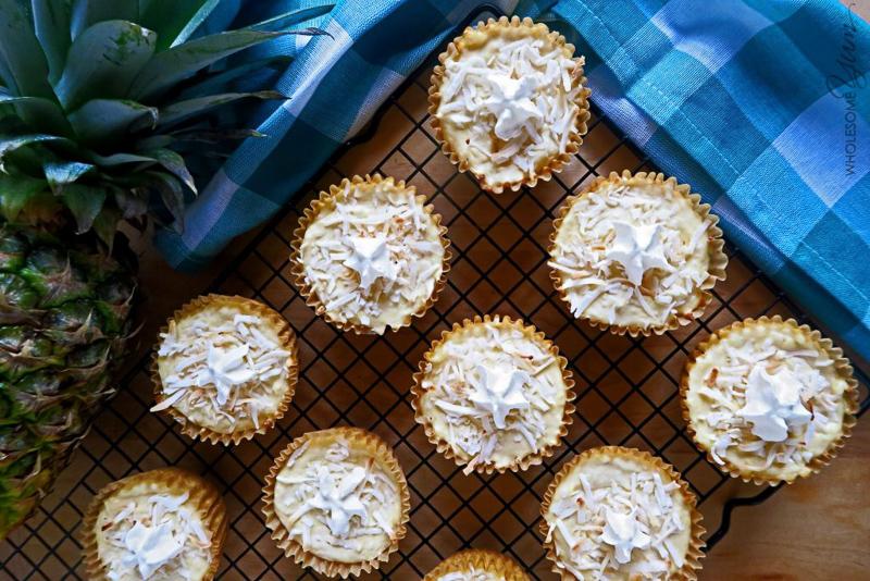 Piña Colada Cheesecake Cupcakes Recipe (Low Carb, Gluten-free)