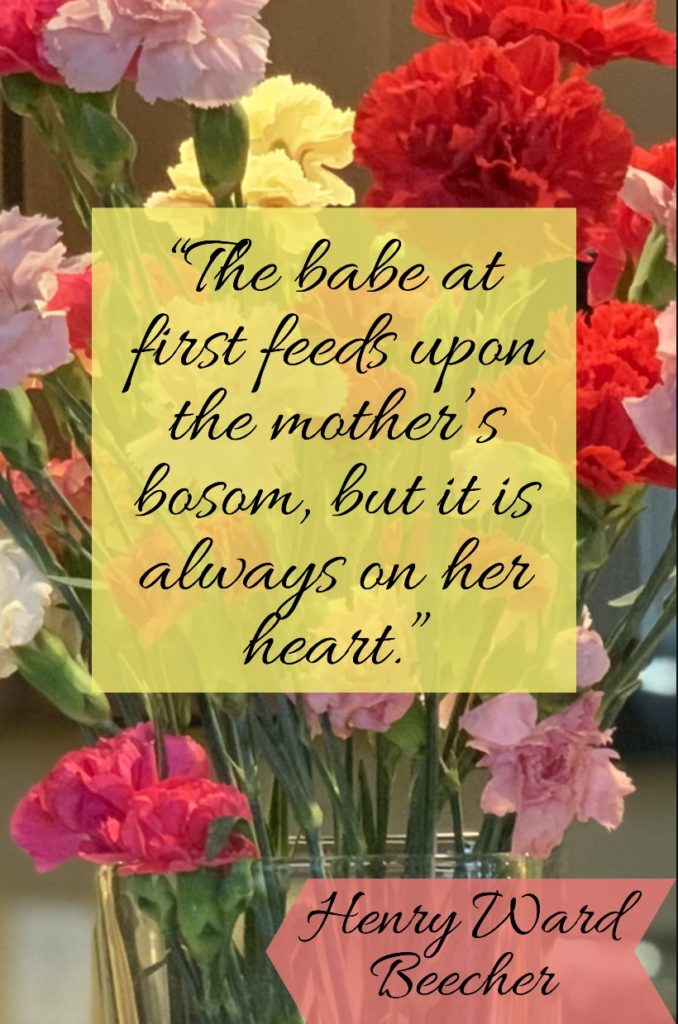Henry Ward Beecher's quote about mothers