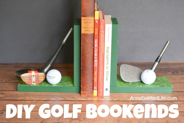 painted do it yourself gold bookends with books in between