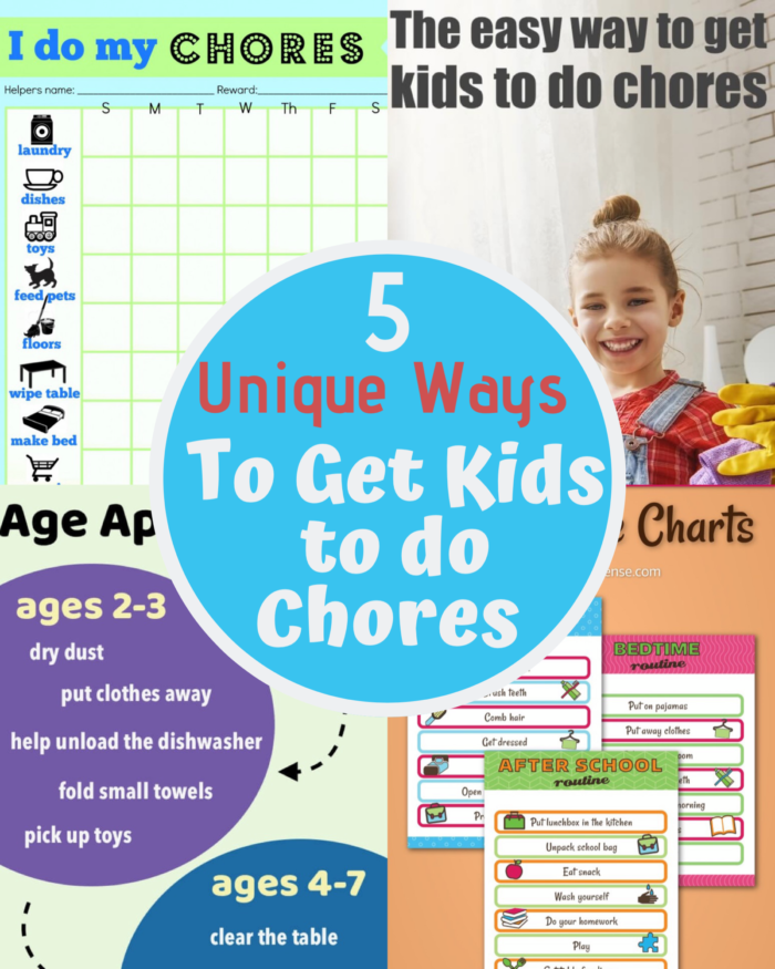 How many of us mom's struggle to get our kids to do chores?  I've tried so many things and I've concluded that kids actually like structure, which includes chores.  So, I've started to give them a simple schedule of chores to do. How do you know what will work for your child? Here's some interesting ways to get kids to do chores with printables too.