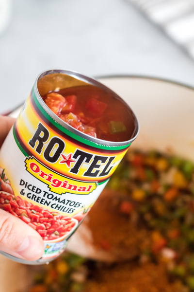 open can of rotel
