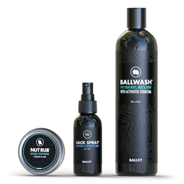 three mens wash products for their private parts