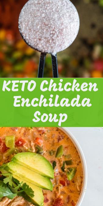 pin for keto chicken enchilada soup
