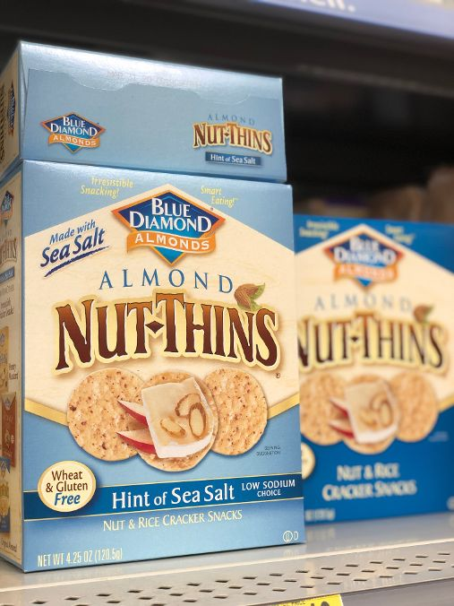 box of Nut Thins in Almond and Hint of Sea Salt