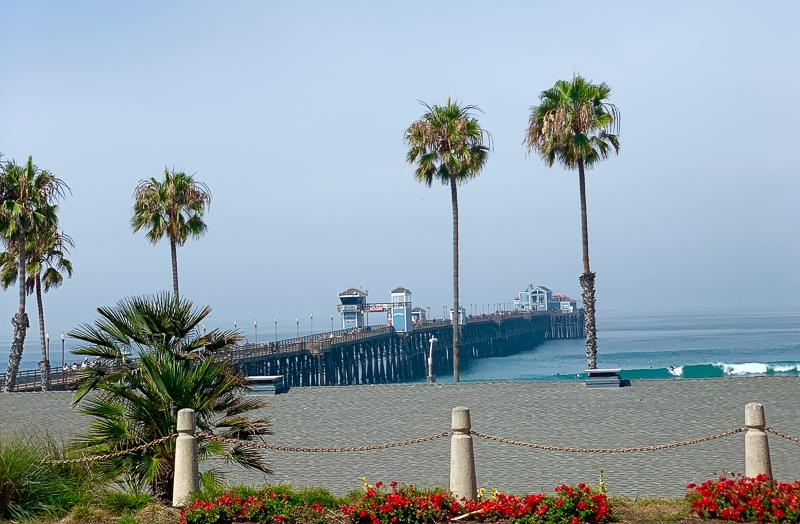 pier in front of Wyndham Oceanside Pier