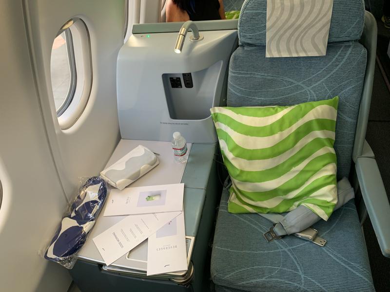 flatbed on business class on Finnair
