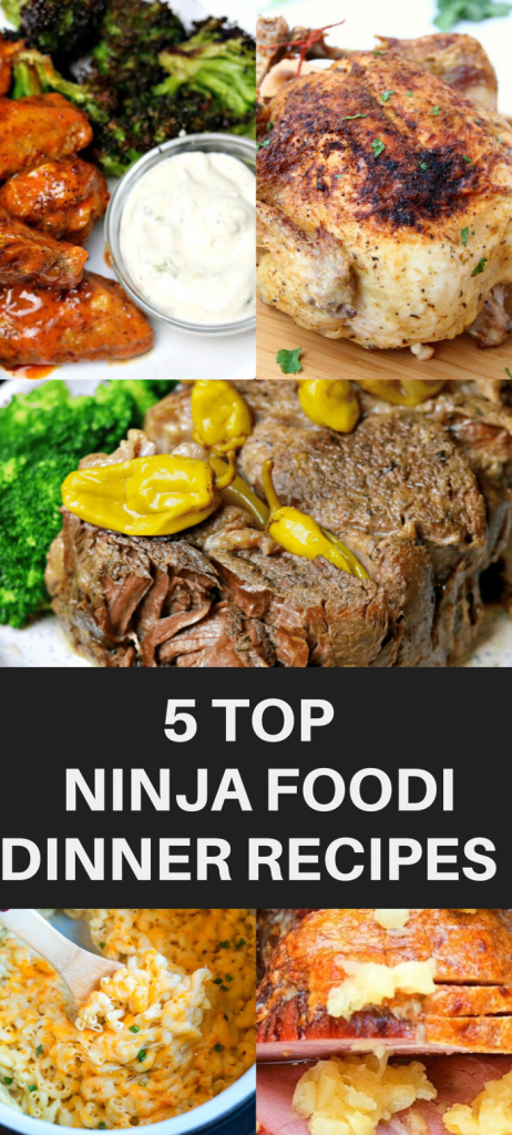 Pictures of recipes made using the Ninja Foodi.