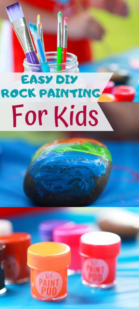 pin image of DIY rock painting