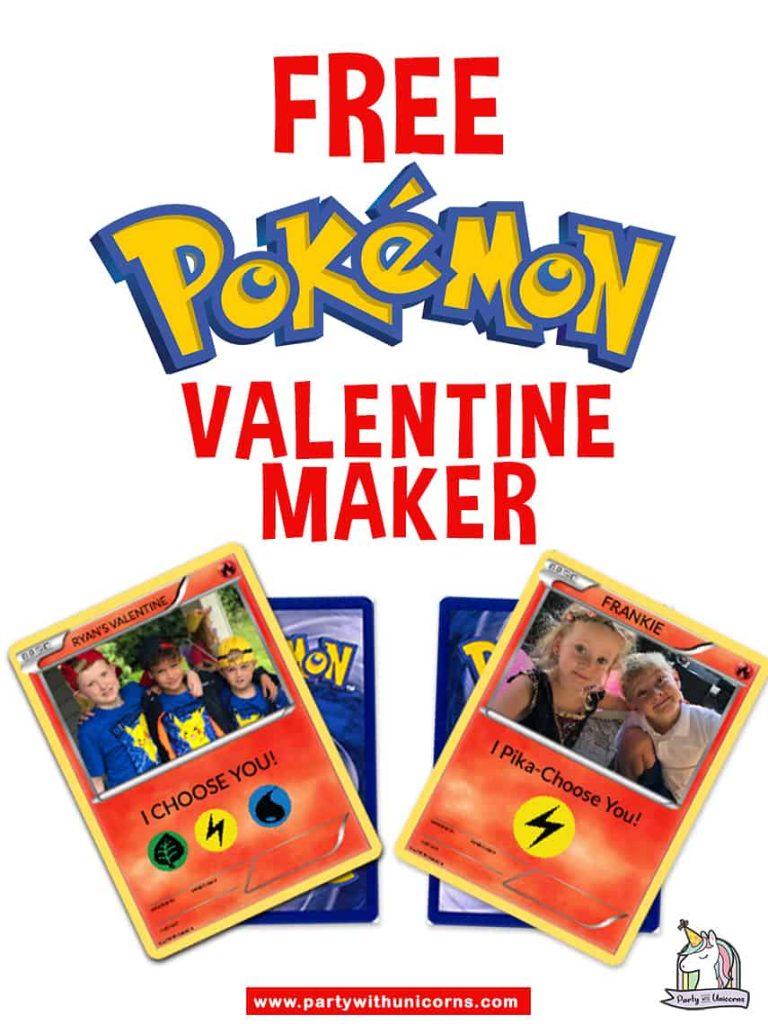 Personalized Pokémon Valentine Maker