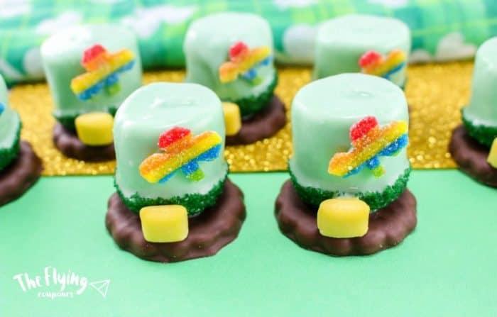 leprechaun hats with marshmallows