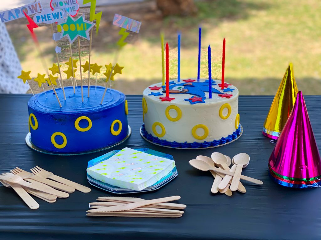 sonic cake and party it by LGO bakery