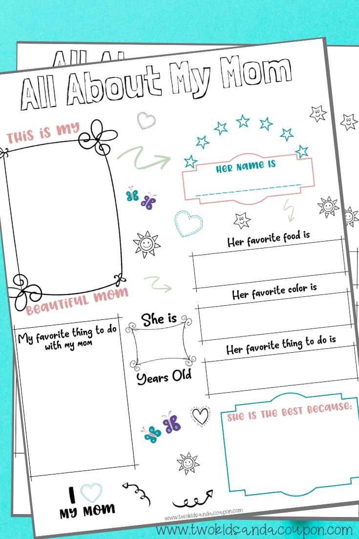 Free All About My Mom Printable for Kids