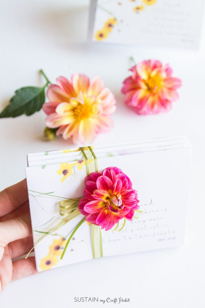 How to make your own miniature DIY Floral Notebooks