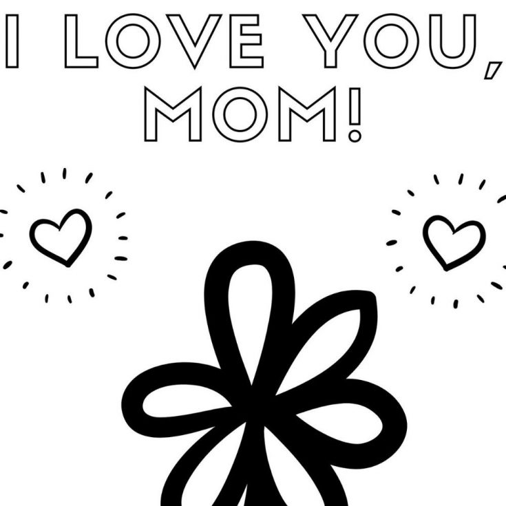 Mother's Day Free Printable Coloring Page
