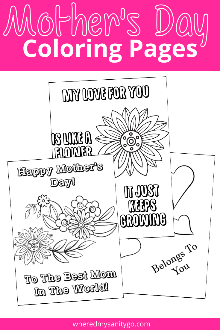 Mother's Day Coloring Pages For Kids: A fun gift for mom!