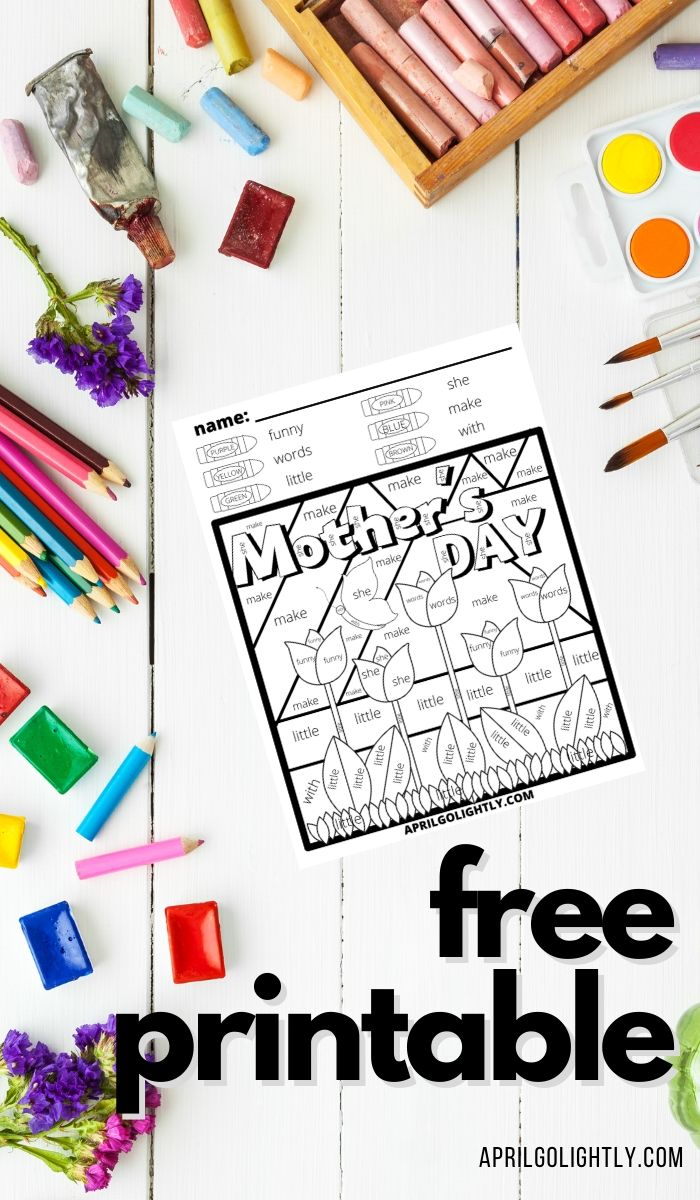 Mother's Day Coloring Sheets – FREE Printable