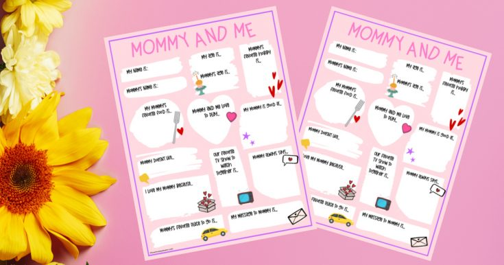 Free Printable Mother's Day Questionnaire & Portrait Page