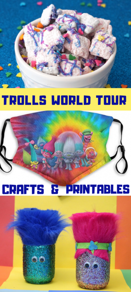 It's time! TrollsWorldTour is now available to watch at home on demand. It's time to plan the perfect movie night! Or you can have a Trolls party! Have some fun with Trolls World Tour printables or Trolls World Tour crafts like Trolls headbands or princess poppy chow.
