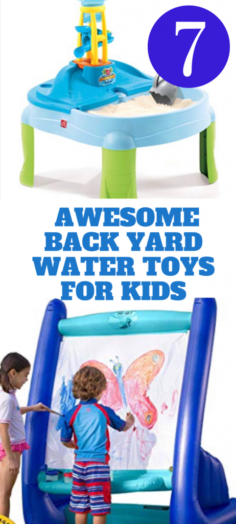 I've found some outdoor back yard activities but I wanted to find some water toys.  The boys love outdoor sand tables and water slides.  Back yard water toys are going to be the answer to a long, hot summer.  Inflatable bounce house pools and inflatable pools are the way to go for multiple kids in a family like mine.  Kids water guns are really popular all year around along with other kids water toys.