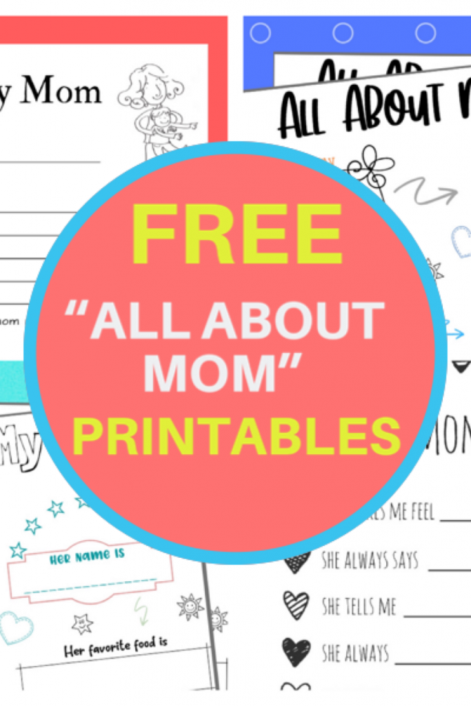 """I found some really cute """"All About Mom"""" printables, """"I love my Mom Because"""" printables and Mother's Day Questionnaires. The questions are adorable."""