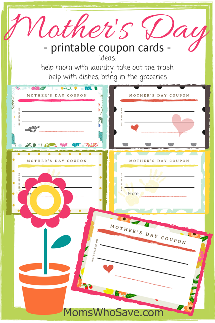 Free Printable Mother's Day Coupon Cards | MomsWhoSave.com