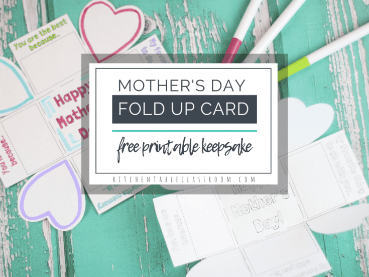 "A Free ""Exploding"" Printable Mothers Day Card for Kids"