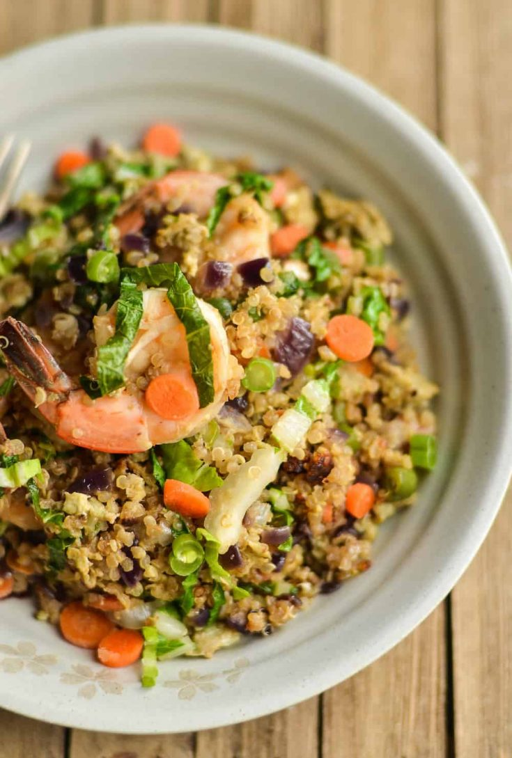 Easy and Filling Shrimp Quinoa 'Fried Rice' Recipe