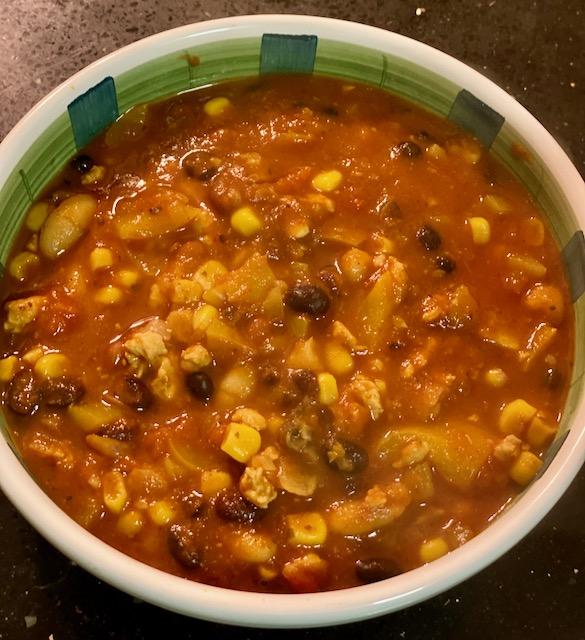 Instant Pot Turkey Chili (7 WW SP Blue)