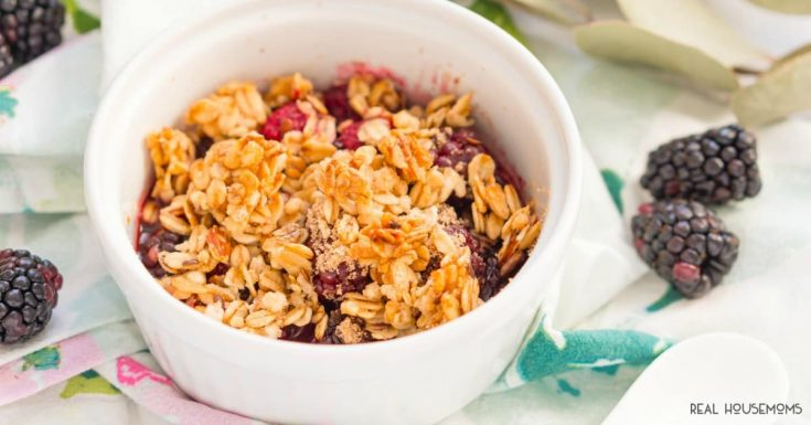 Weight Watchers Berry Crisp For One