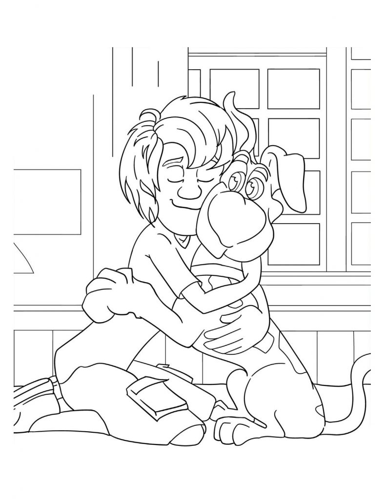 Scoob printable of Shaggy and Scooby Doo.