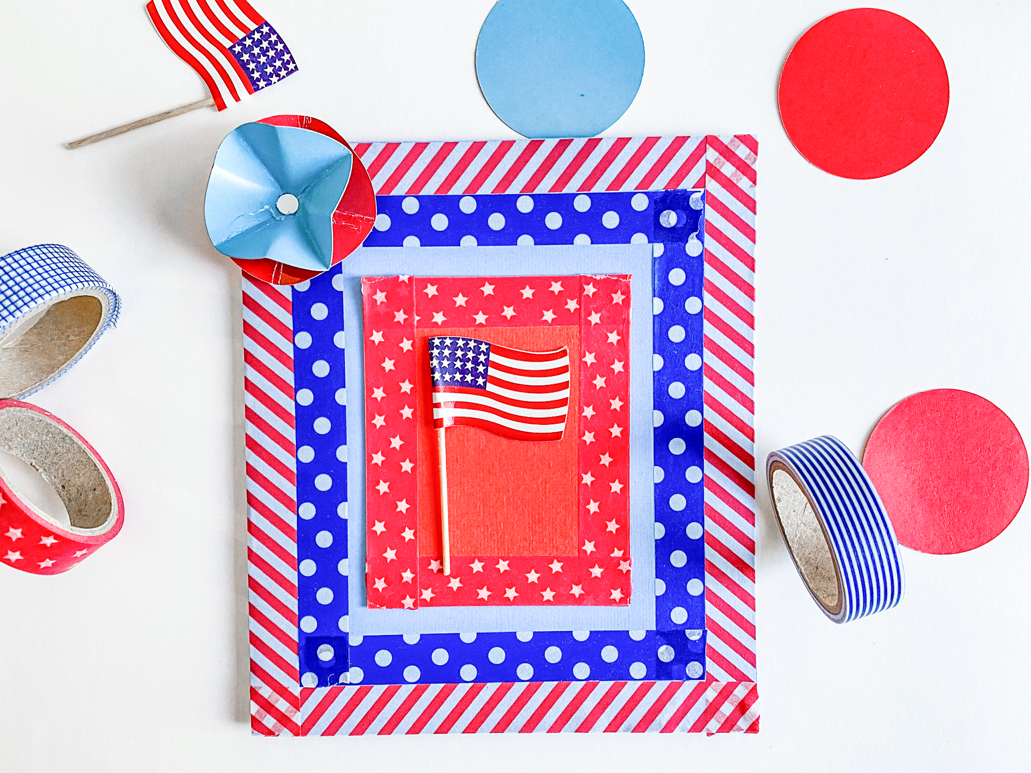 How to make Easy DIY Fourth of July Greeting Cards