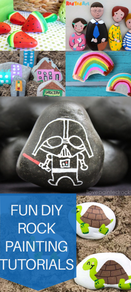 pin for rock painting tutorials
