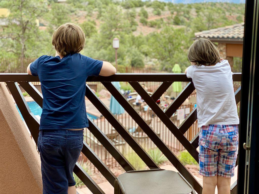 boys on balcony