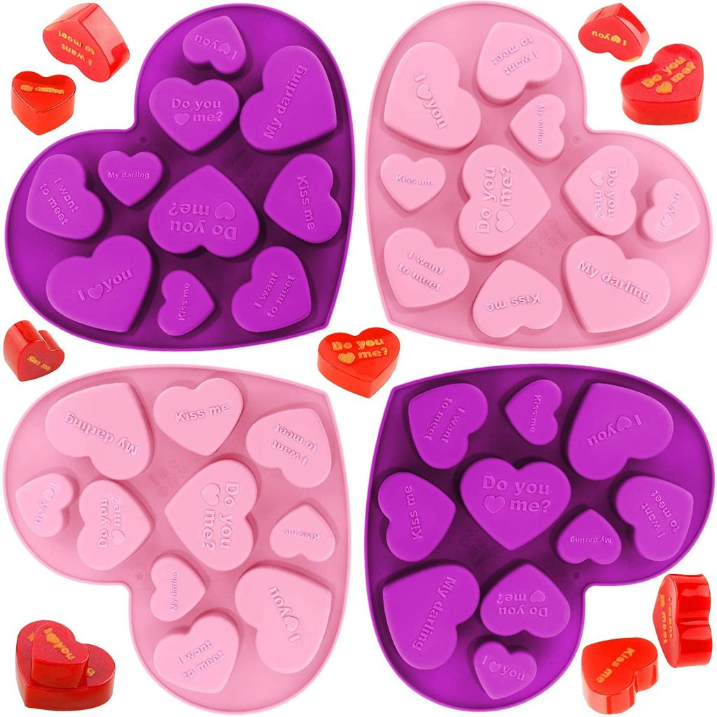 Conversation Hearts Candy Molds