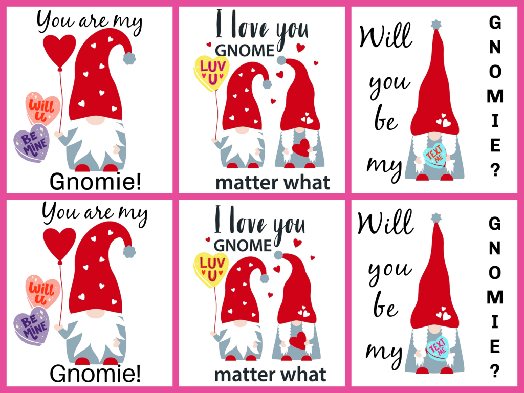 gnomes with conversation hearts