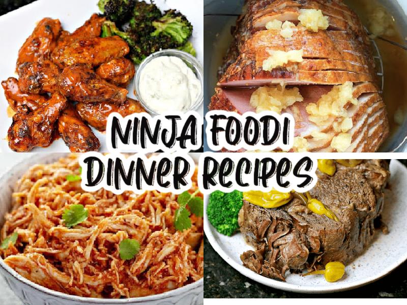 Ninja foodi dinner recipes collage