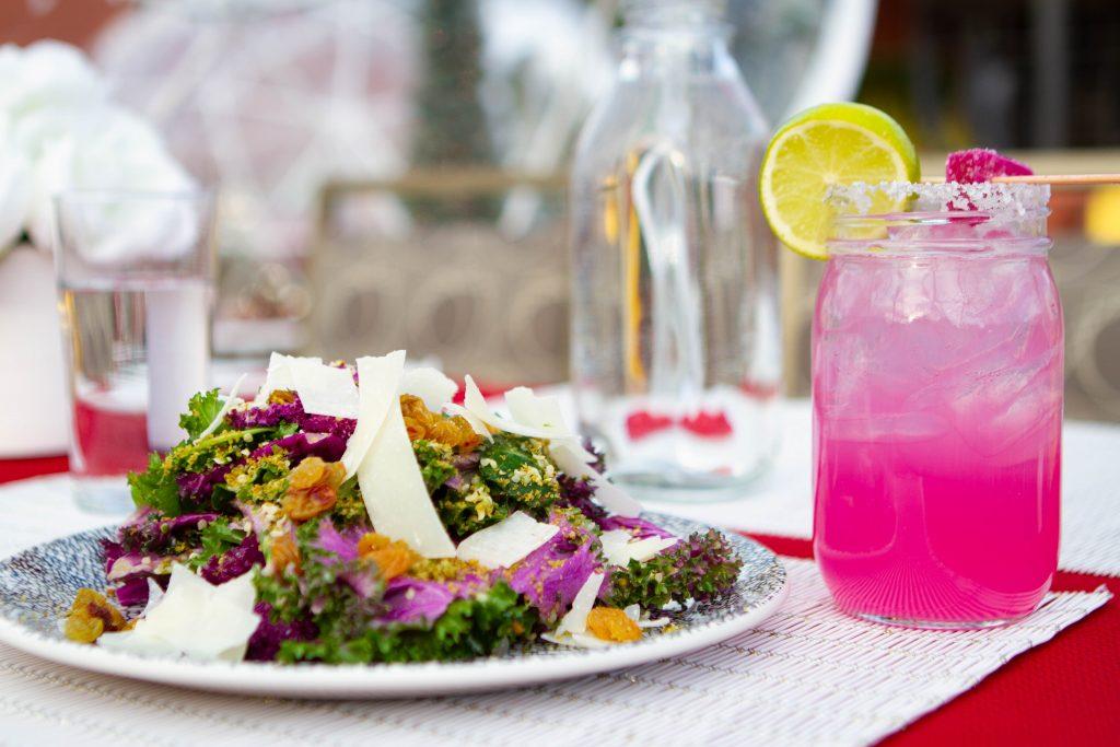 Purple Kale Salad