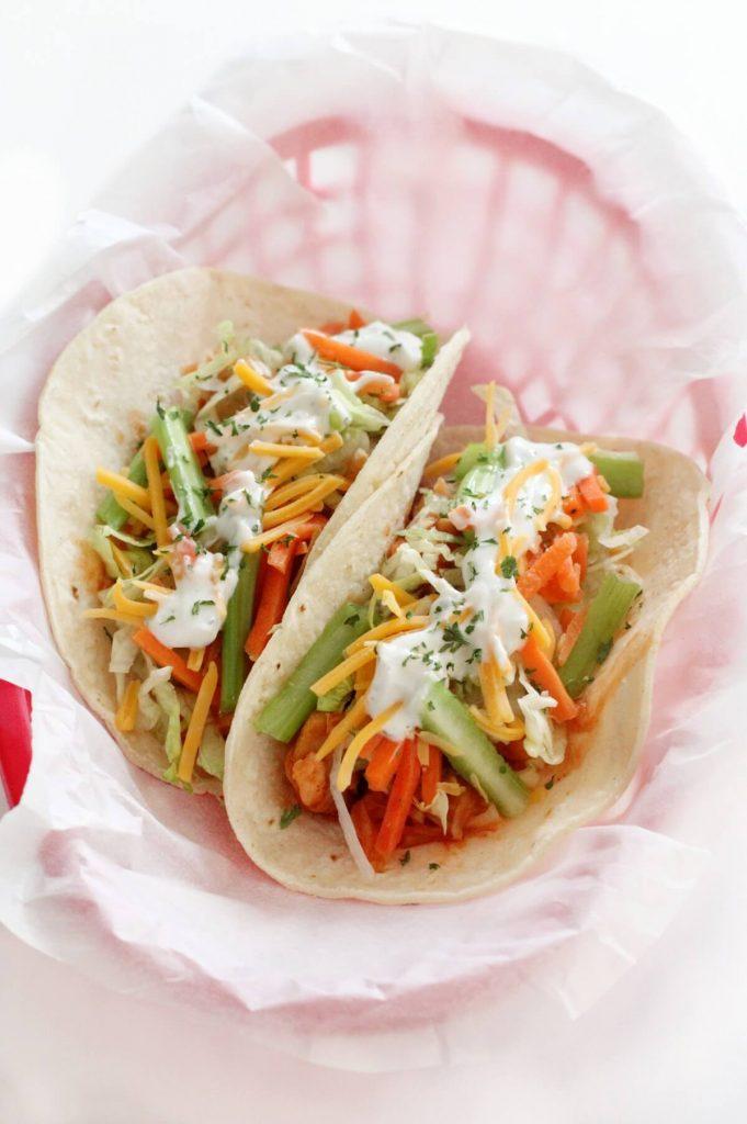 Vegan Buffalo Chicken Tacos
