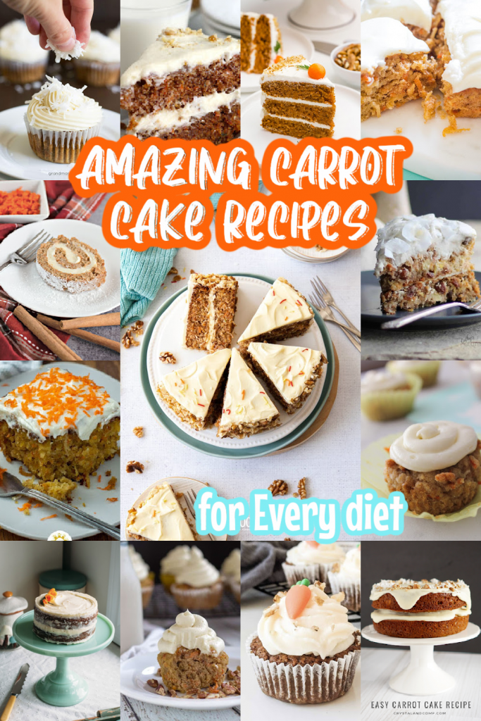 carrot cake recipes collage