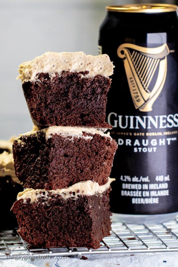 Dark Chocolate Guinness Brownies