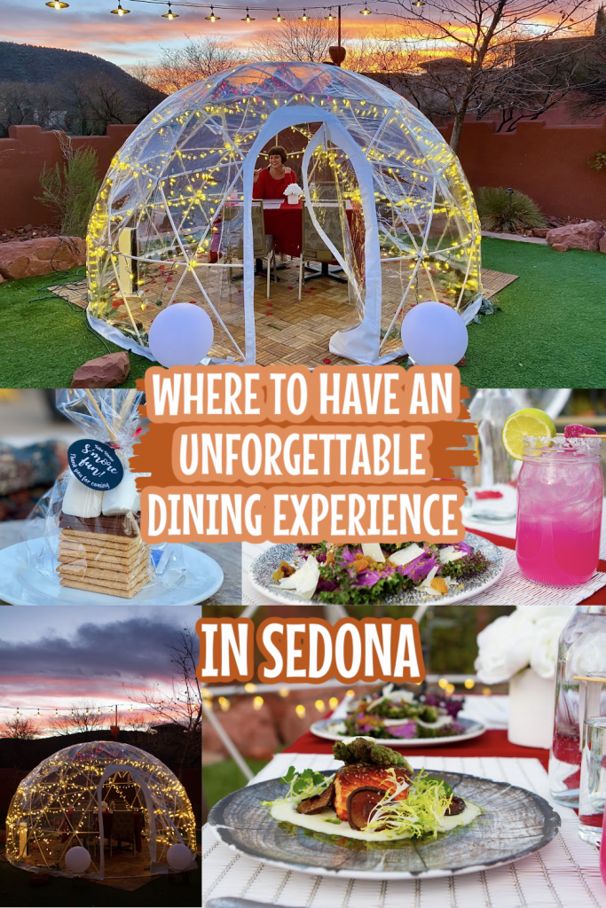 Collage of dining at the HIlton Sedona