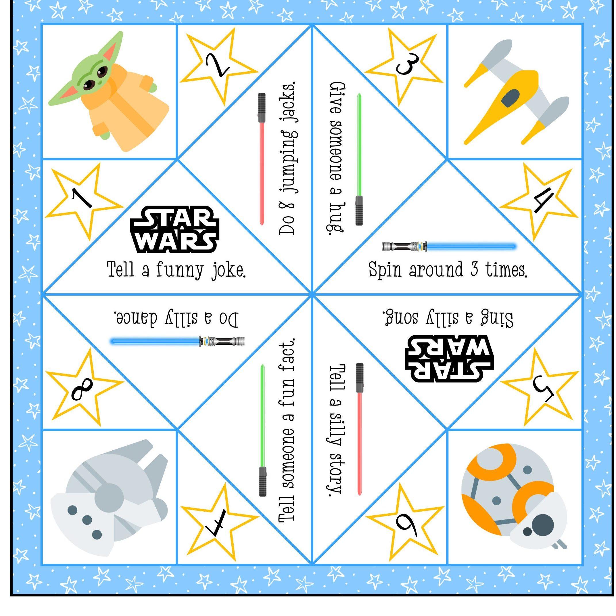 Star Wars Origami Fortune Teller