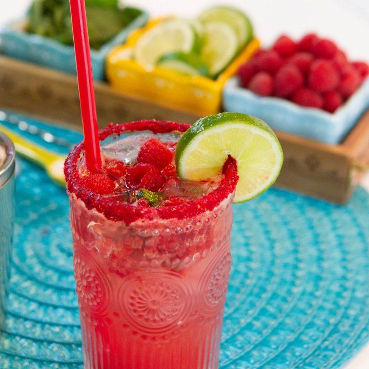 Non Alchoholic Raspberry Mojito