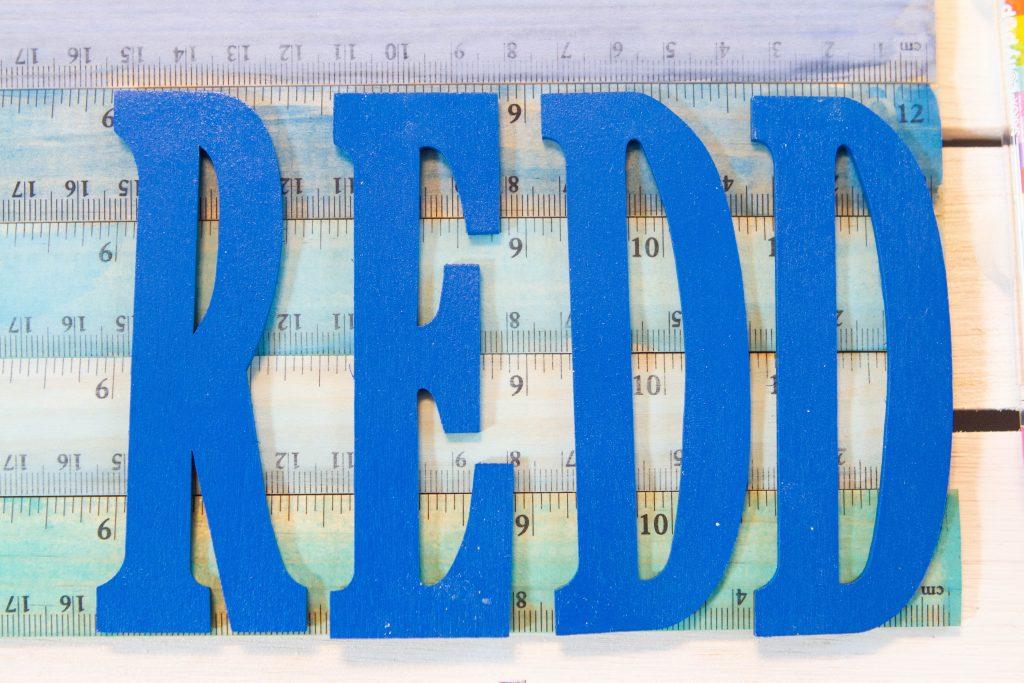 Redd wood letter