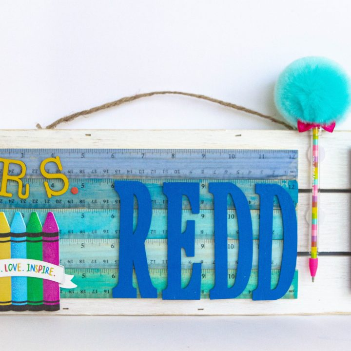 Teacher's DIY Sign with Rulers