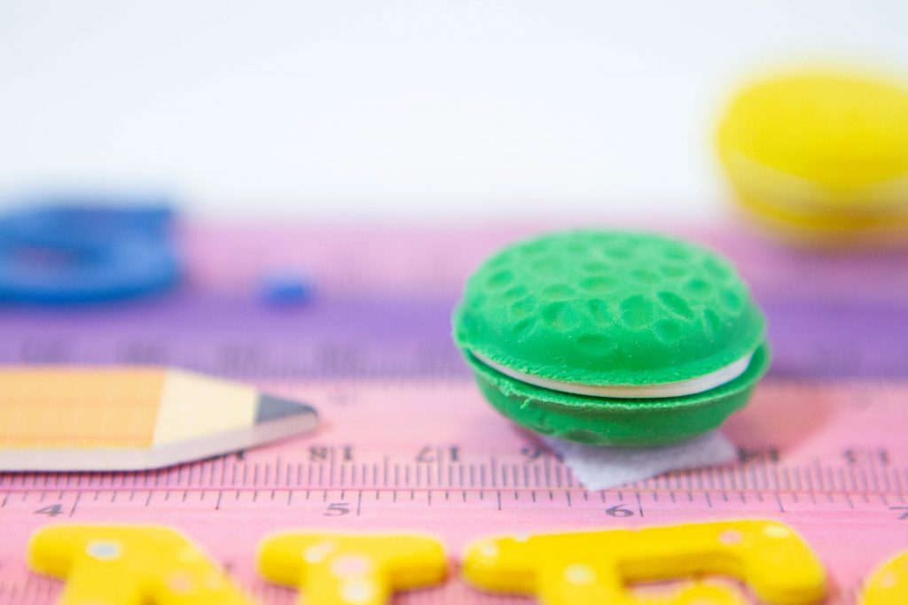Green Le Macaron Patiesserie Scented Eraser