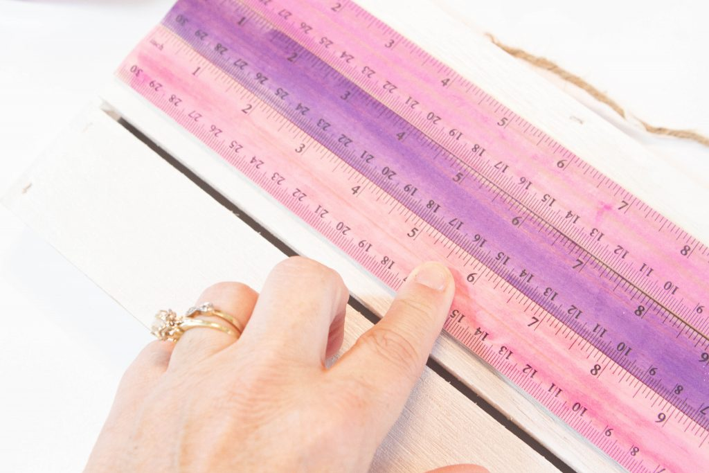 Gluing rulers to sign